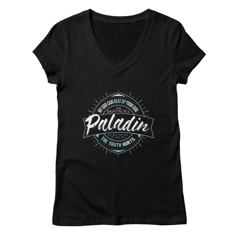 D&D Paladin Women's Regular V-Neck by carlhuber's Artist Shop