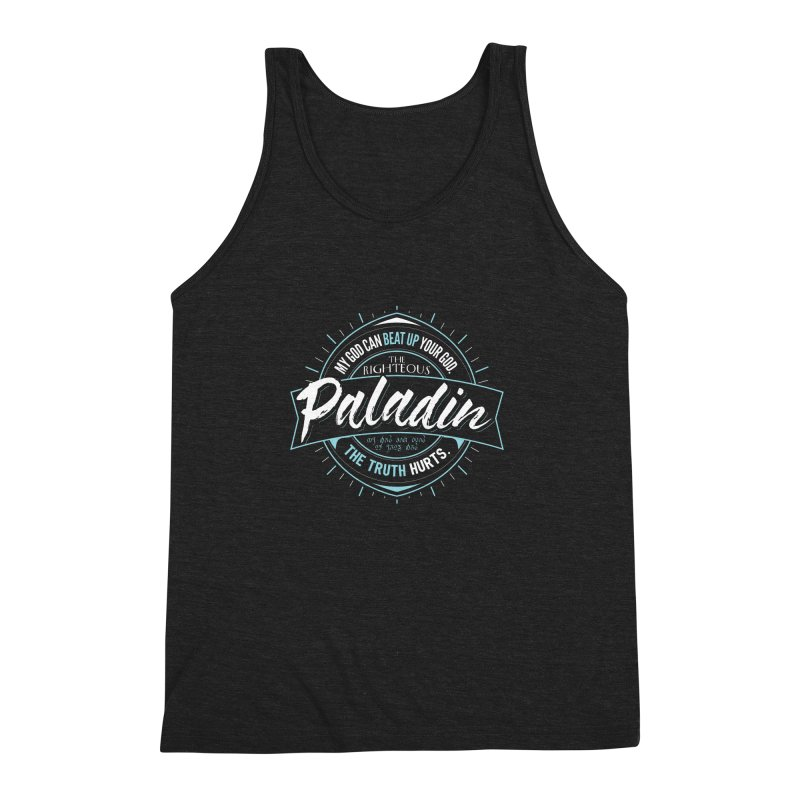 D&D Paladin Men's Triblend Tank by Carl Huber's Artist Shop