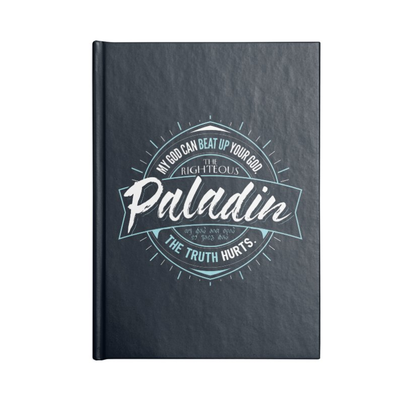 D&D Paladin Accessories Lined Journal Notebook by Carl Huber's Artist Shop