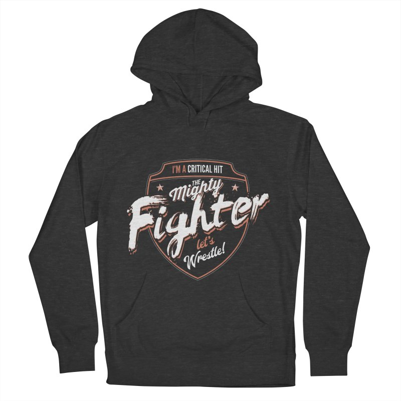 D&D Fighter Men's French Terry Pullover Hoody by Carl Huber's Artist Shop