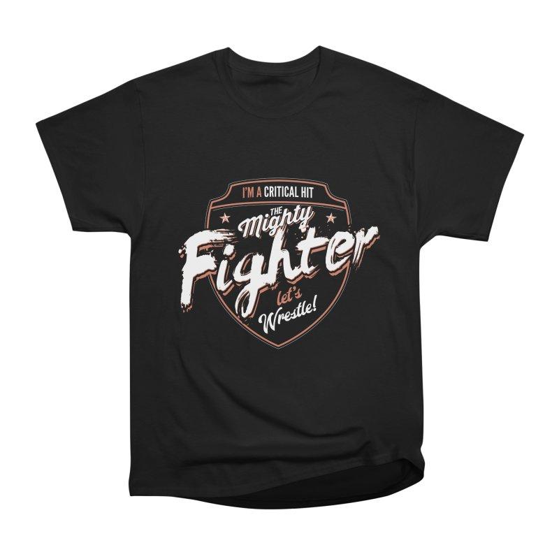 D&D Fighter Men's Heavyweight T-Shirt by Carl Huber's Artist Shop