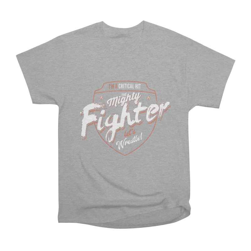 D&D Fighter Men's Heavyweight T-Shirt by Carl Huber's Artist Shop