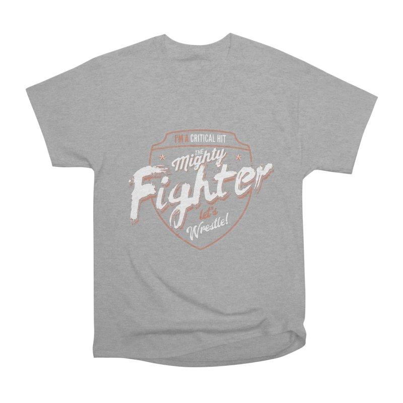 D&D Fighter Women's Heavyweight Unisex T-Shirt by Carl Huber's Artist Shop