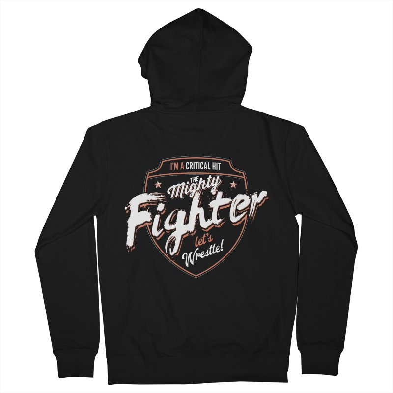 D&D Fighter Women's French Terry Zip-Up Hoody by Carl Huber's Artist Shop