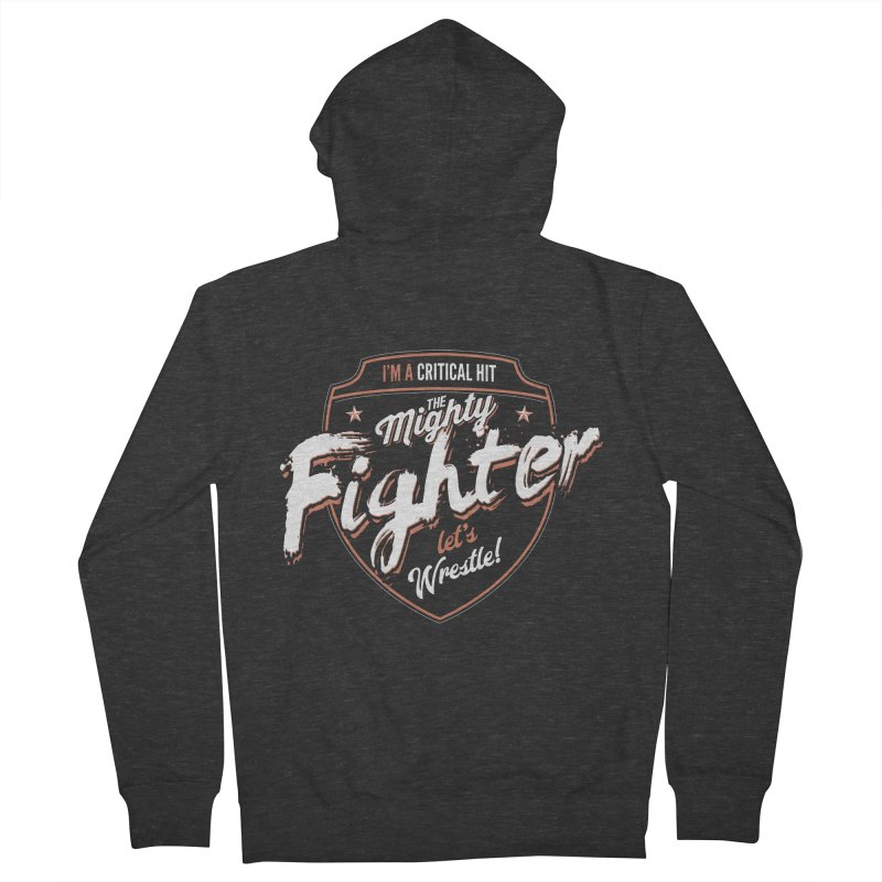 D&D Fighter Men's French Terry Zip-Up Hoody by Carl Huber's Artist Shop