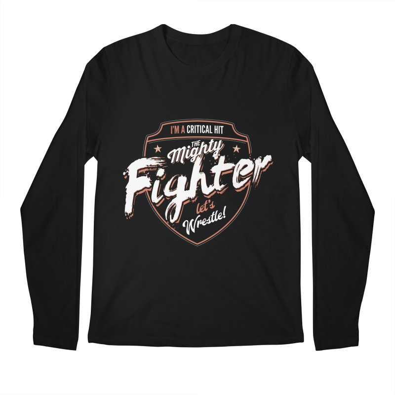 D&D Fighter Men's Regular Longsleeve T-Shirt by Carl Huber's Artist Shop