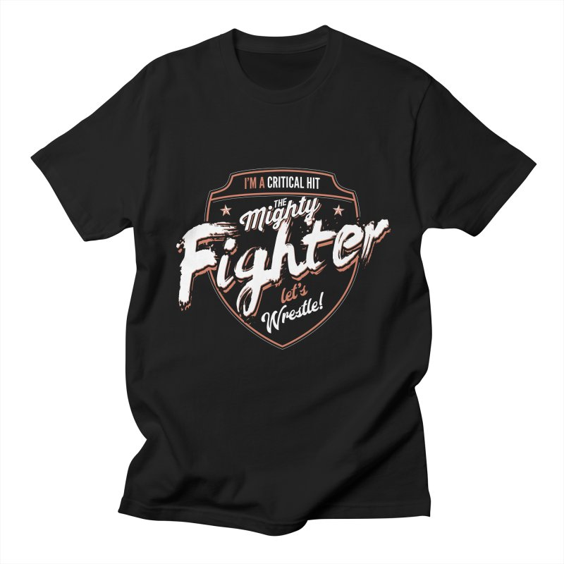 D&D Fighter Men's Regular T-Shirt by carlhuber's Artist Shop