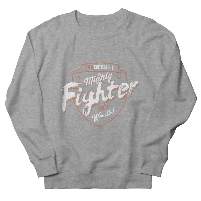 D&D Fighter Men's French Terry Sweatshirt by carlhuber's Artist Shop