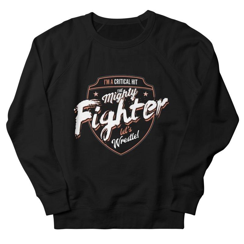 D&D Fighter Men's French Terry Sweatshirt by Carl Huber's Artist Shop