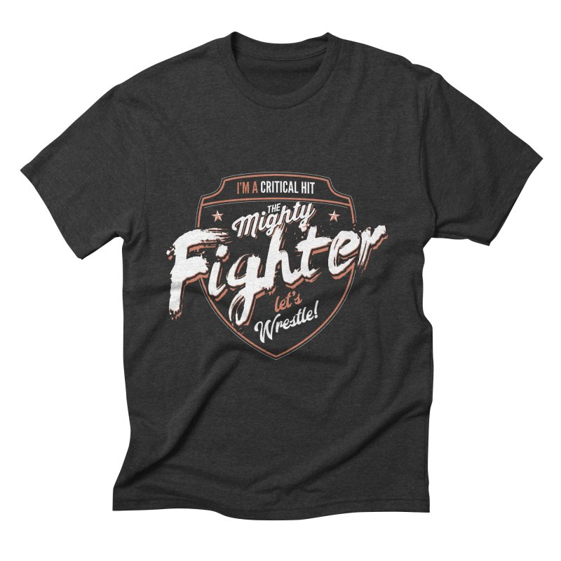 D&D Fighter Men's Triblend T-Shirt by carlhuber's Artist Shop