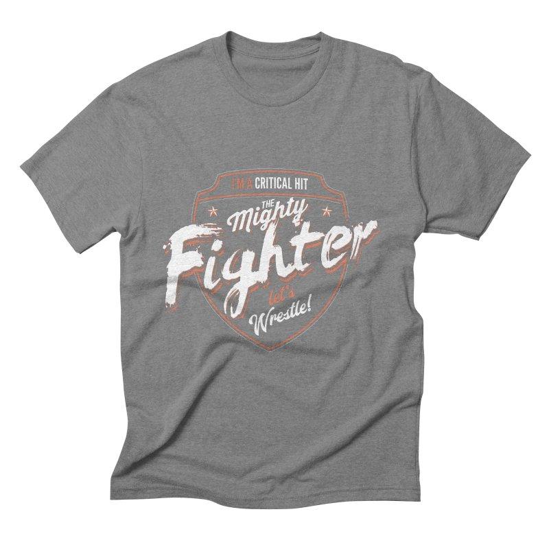 D&D Fighter Men's Triblend T-Shirt by carlhuber's Artist Shop