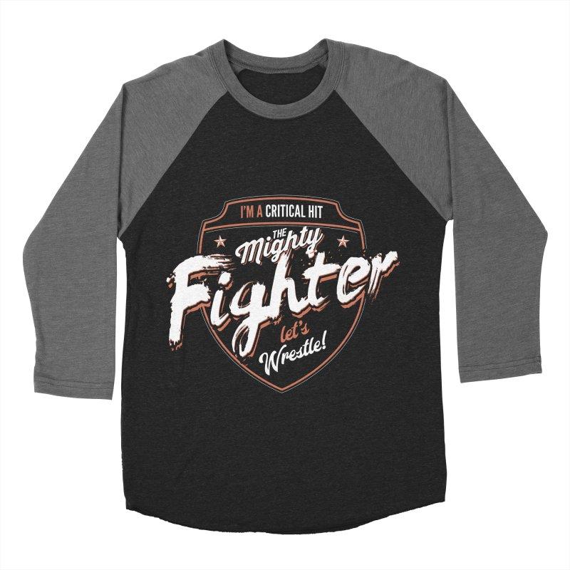 D&D Fighter Women's Baseball Triblend T-Shirt by carlhuber's Artist Shop