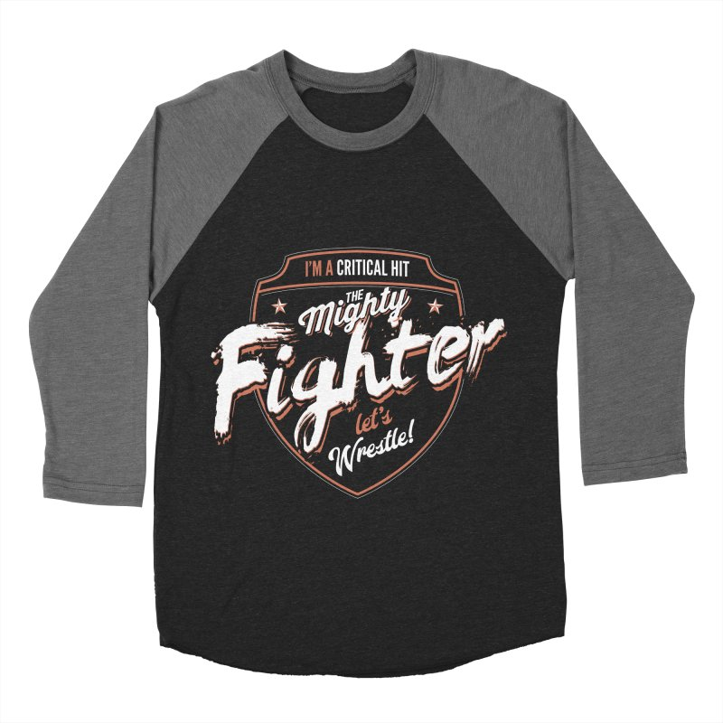 D&D Fighter Men's Baseball Triblend Longsleeve T-Shirt by carlhuber's Artist Shop