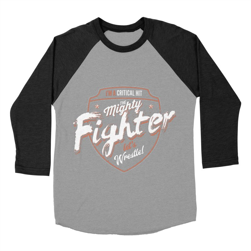 D&D Fighter Men's Baseball Triblend Longsleeve T-Shirt by Carl Huber's Artist Shop