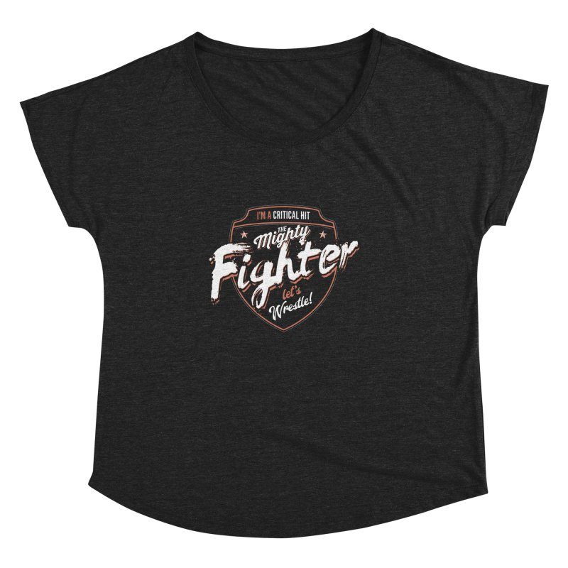 D&D Fighter Women's Dolman Scoop Neck by carlhuber's Artist Shop