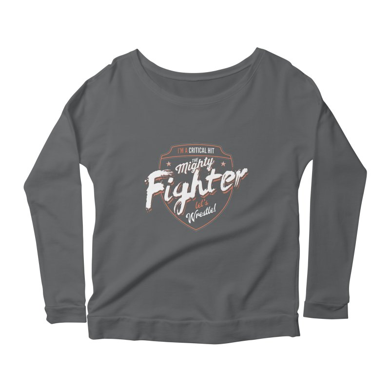 D&D Fighter Women's Scoop Neck Longsleeve T-Shirt by Carl Huber's Artist Shop