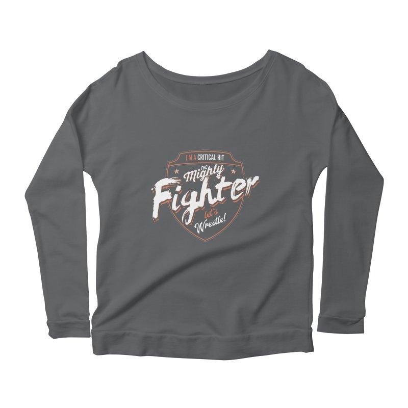 D&D Fighter Women's Longsleeve Scoopneck  by carlhuber's Artist Shop