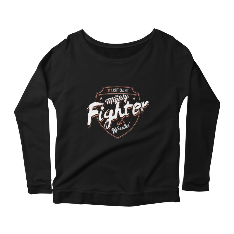 D&D Fighter Women's Scoop Neck Longsleeve T-Shirt by carlhuber's Artist Shop