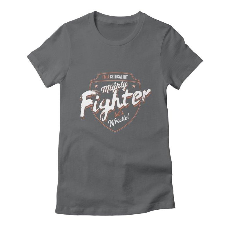 D&D Fighter Women's Fitted T-Shirt by Carl Huber's Artist Shop