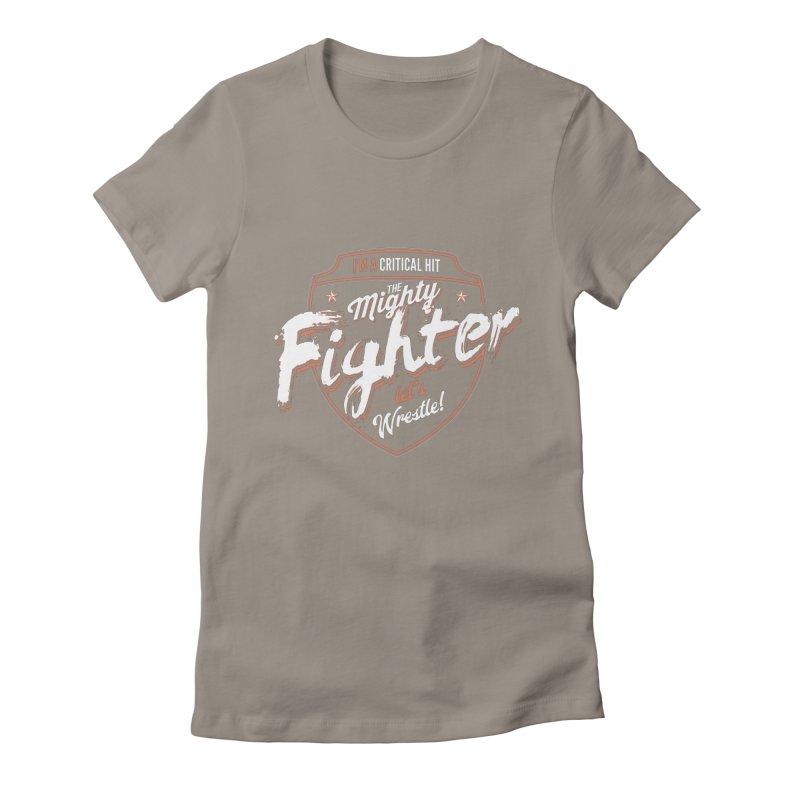 D&D Fighter Women's Fitted T-Shirt by carlhuber's Artist Shop