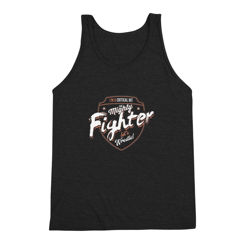D&D Fighter Men's Triblend Tank by Carl Huber's Artist Shop