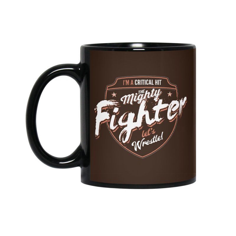 D&D Fighter Accessories Mug by carlhuber's Artist Shop