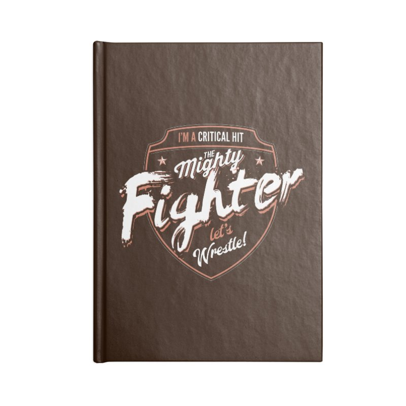 D&D Fighter Accessories Lined Journal Notebook by Carl Huber's Artist Shop