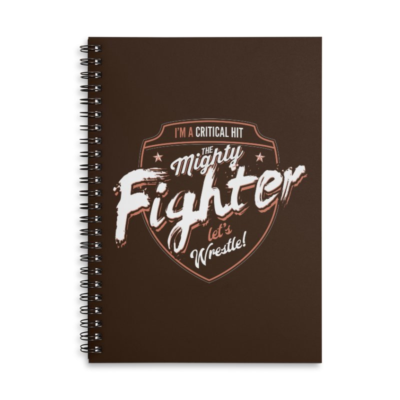D&D Fighter Accessories Lined Spiral Notebook by Carl Huber's Artist Shop