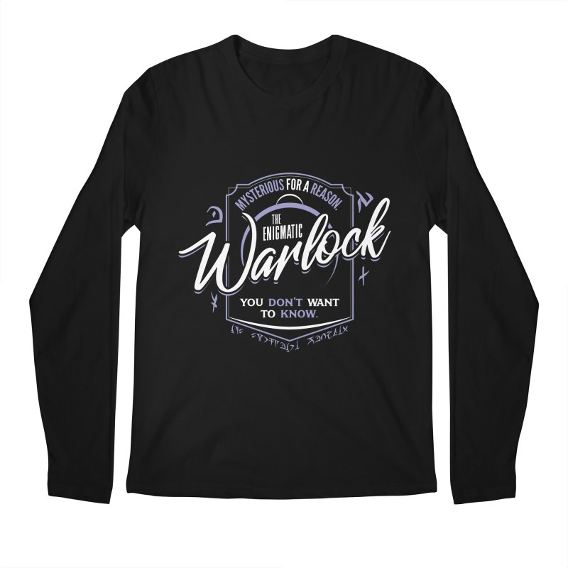 D&D Warlock Men's Regular Longsleeve T-Shirt by Carl Huber's Artist Shop