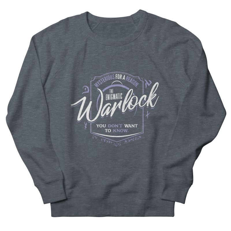 D&D Warlock Women's French Terry Sweatshirt by Carl Huber's Artist Shop