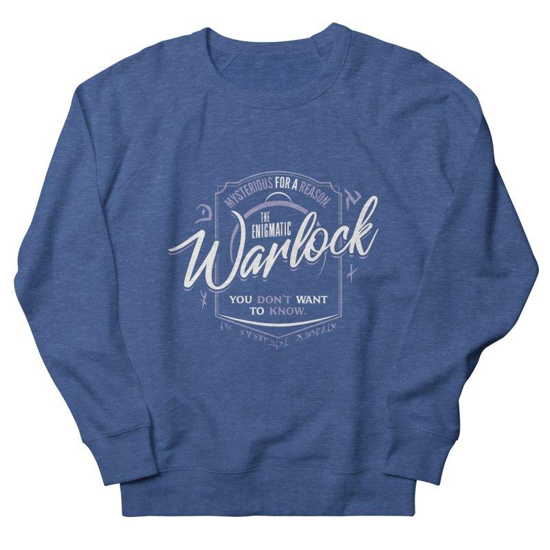 D&D Warlock Men's French Terry Sweatshirt by Carl Huber's Artist Shop