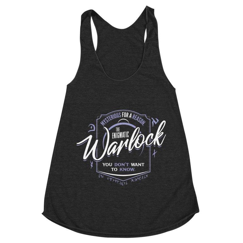 D&D Warlock Women's Racerback Triblend Tank by Carl Huber's Artist Shop