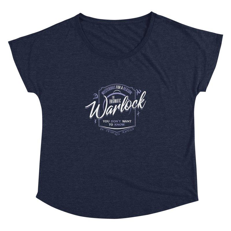 D&D Warlock Women's Scoop Neck by Carl Huber's Artist Shop