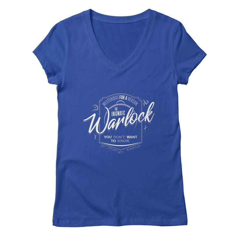 D&D Warlock Women's Regular V-Neck by carlhuber's Artist Shop