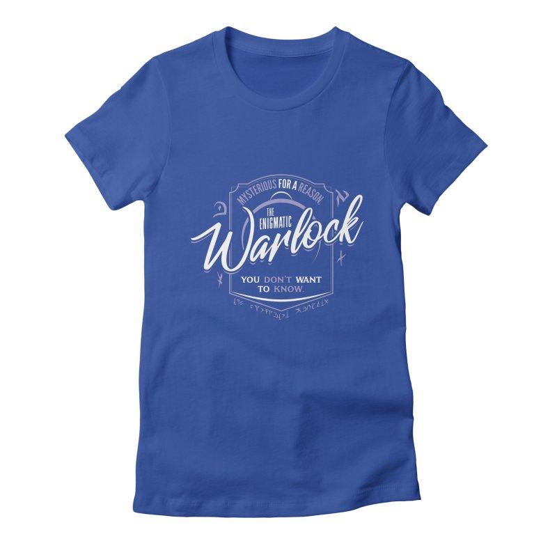 D&D Warlock Women's Fitted T-Shirt by Carl Huber's Artist Shop