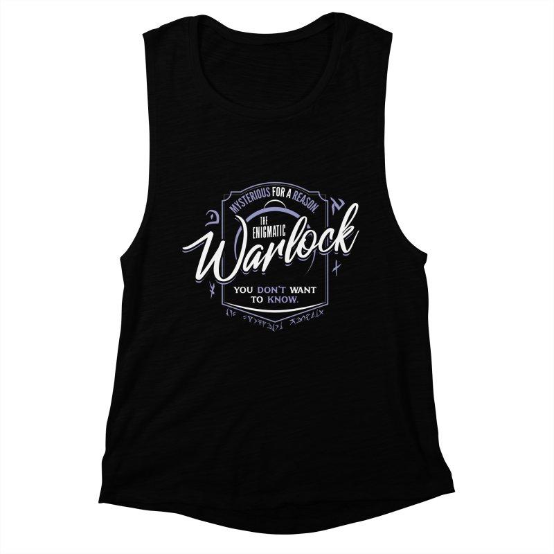 D&D Warlock Women's Muscle Tank by Carl Huber's Artist Shop