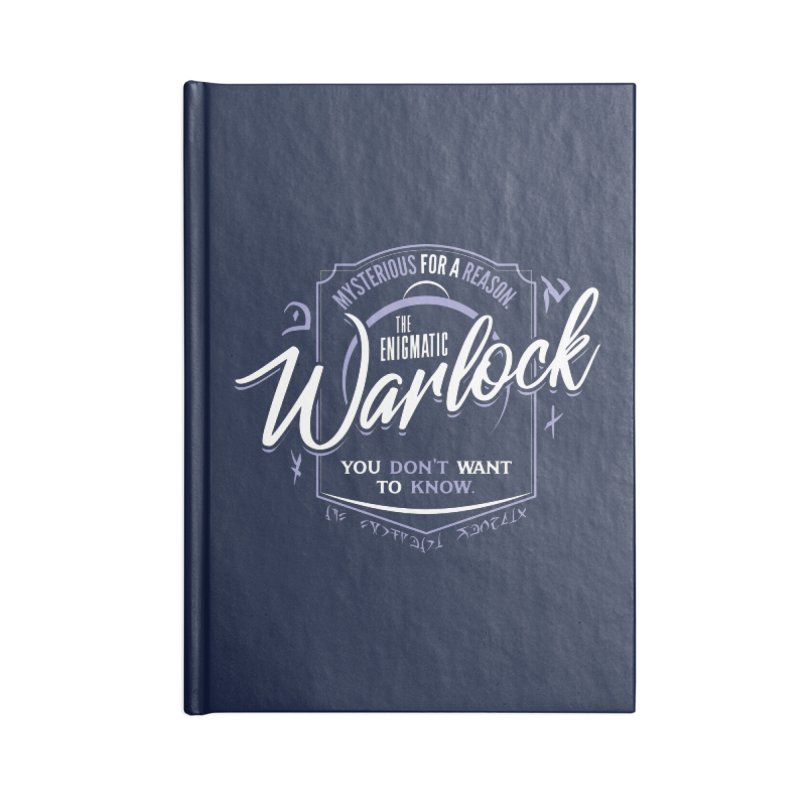 D&D Warlock Accessories Blank Journal Notebook by Carl Huber's Artist Shop