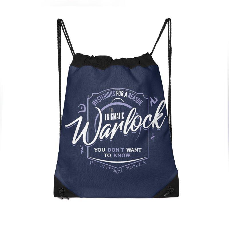 D&D Warlock Accessories Drawstring Bag Bag by Carl Huber's Artist Shop