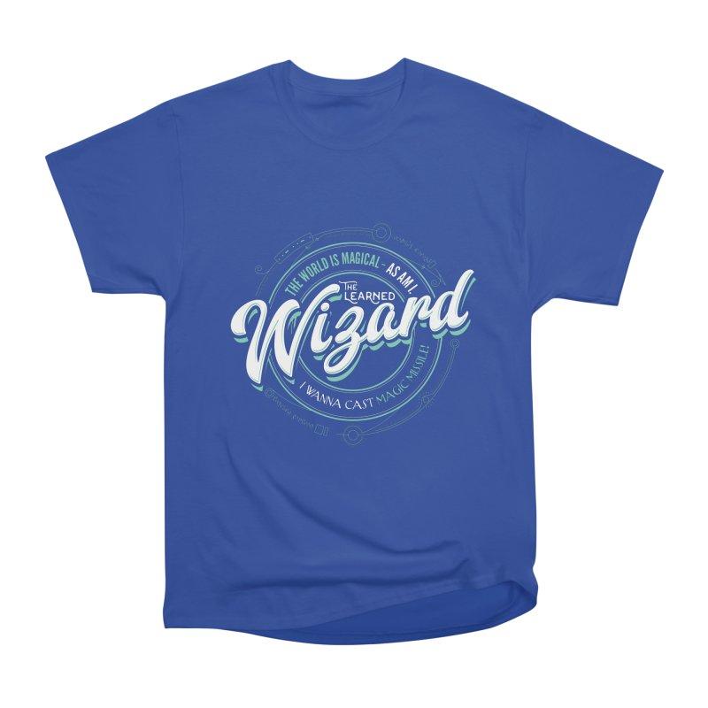 D&D Wizard Women's Heavyweight Unisex T-Shirt by Carl Huber's Artist Shop