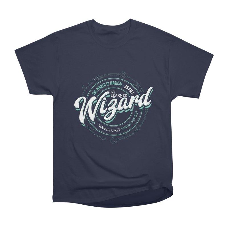 D&D Wizard Men's Heavyweight T-Shirt by Carl Huber's Artist Shop