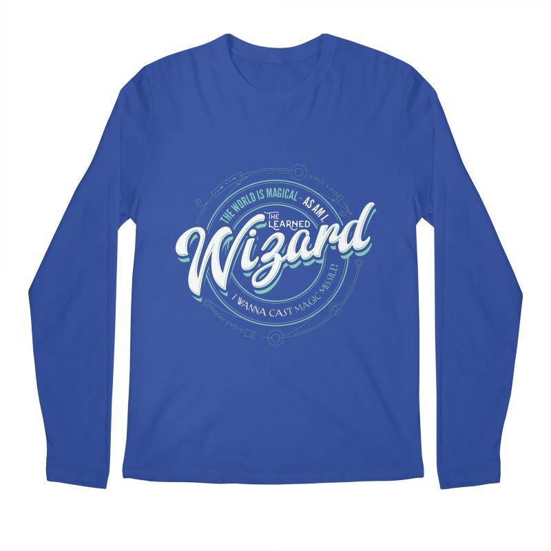 D&D Wizard Men's Regular Longsleeve T-Shirt by carlhuber's Artist Shop
