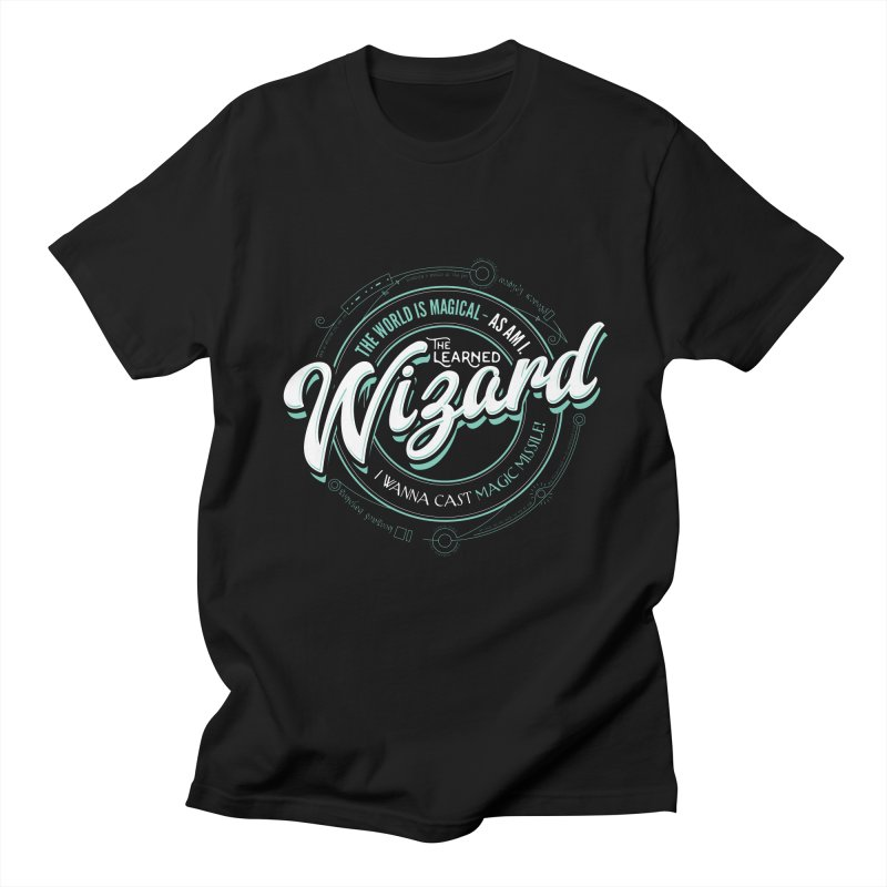 D&D Wizard Women's Regular Unisex T-Shirt by carlhuber's Artist Shop