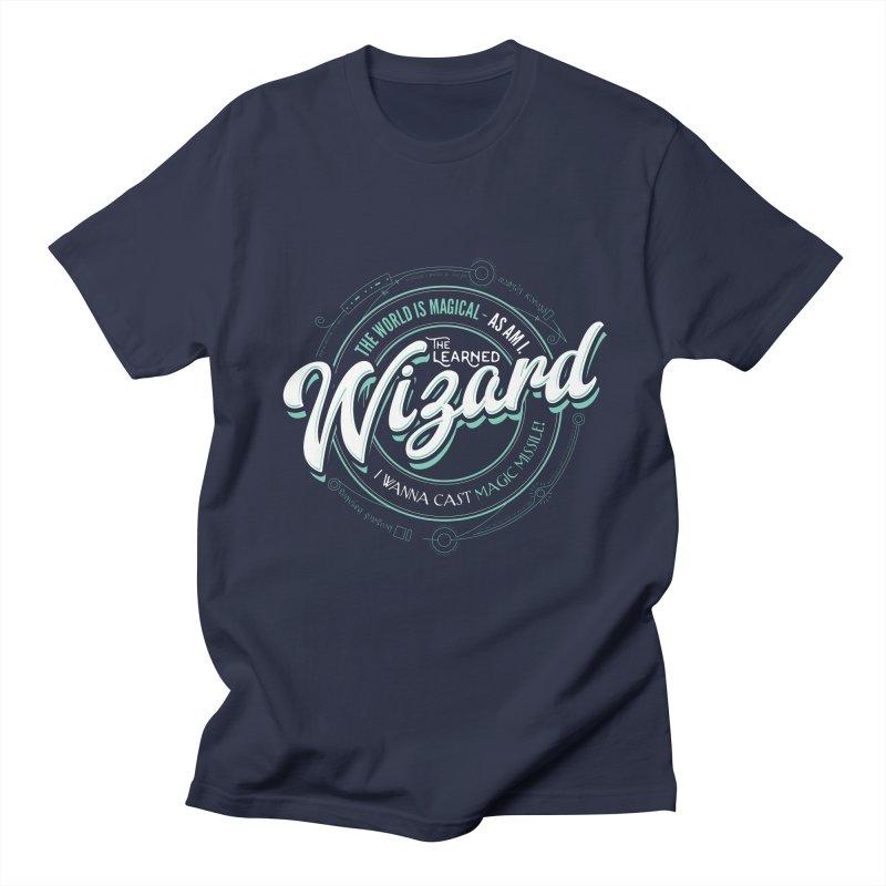 D&D Wizard Men's Regular T-Shirt by Carl Huber's Artist Shop
