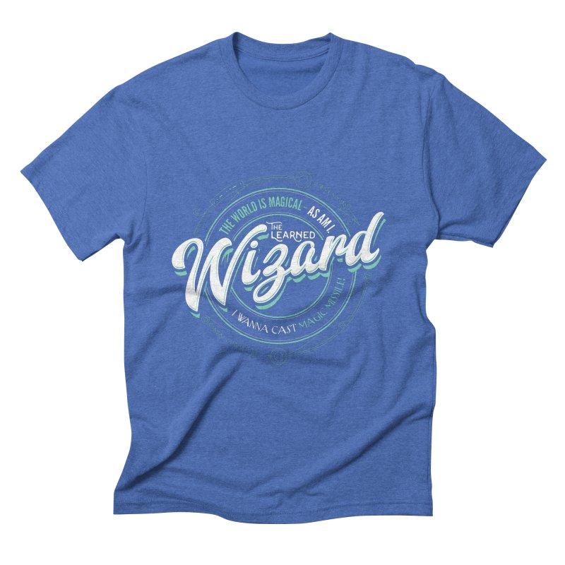 D&D Wizard Men's Triblend T-Shirt by Carl Huber's Artist Shop