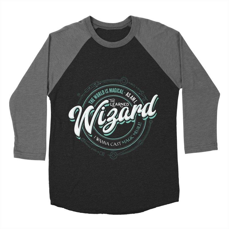 D&D Wizard Women's Baseball Triblend T-Shirt by carlhuber's Artist Shop
