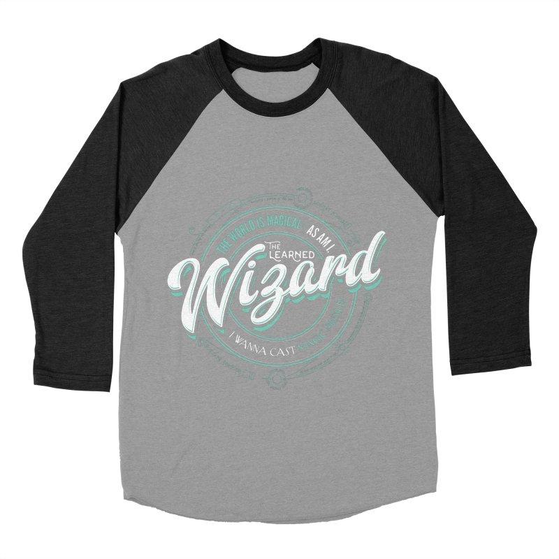 D&D Wizard Men's Baseball Triblend Longsleeve T-Shirt by Carl Huber's Artist Shop