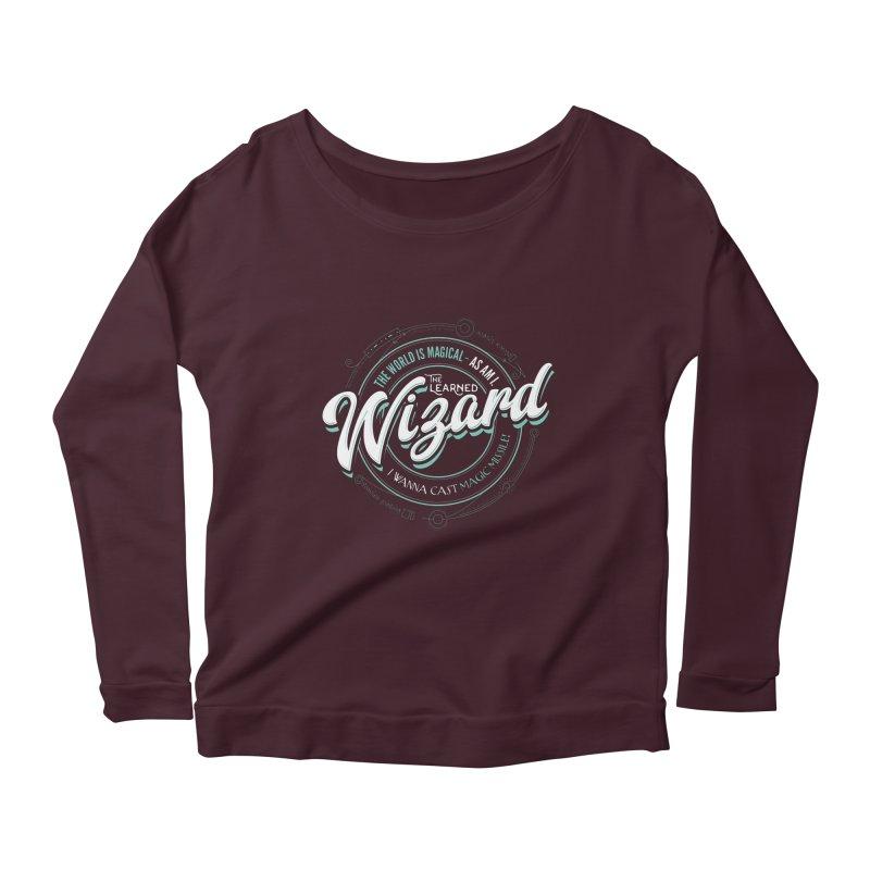 D&D Wizard Women's Scoop Neck Longsleeve T-Shirt by carlhuber's Artist Shop
