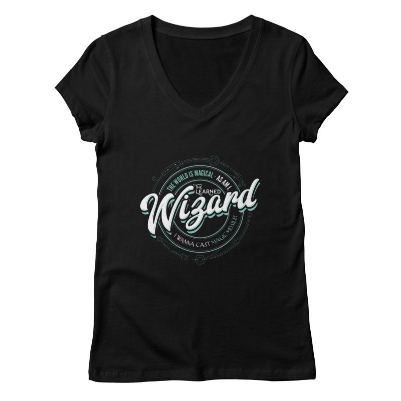 D&D Wizard Women's Regular V-Neck by Carl Huber's Artist Shop