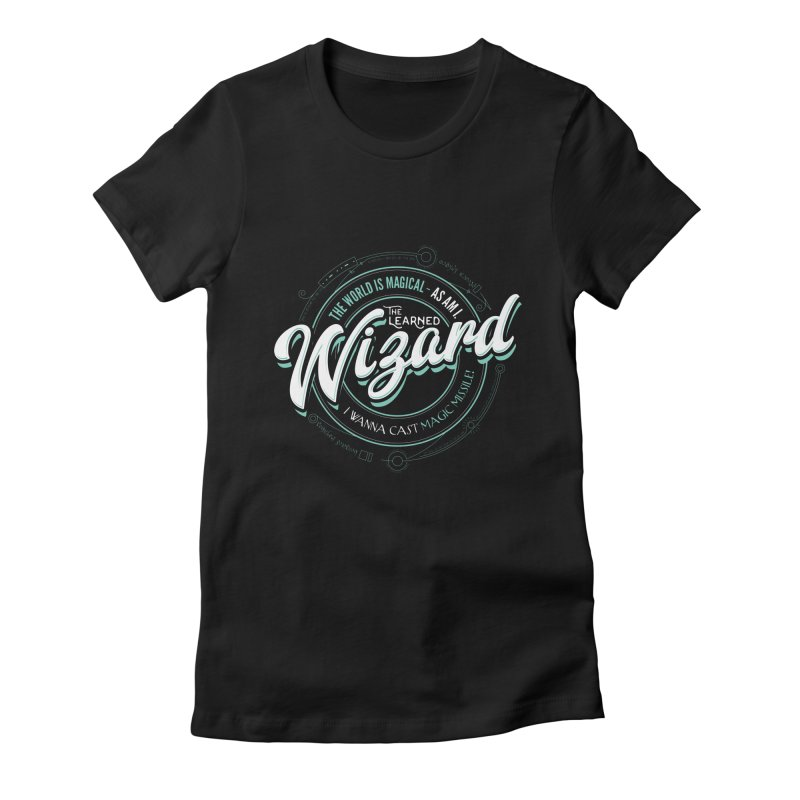 D&D Wizard Women's Fitted T-Shirt by Carl Huber's Artist Shop