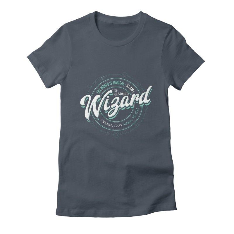 D&D Wizard Women's Fitted T-Shirt by carlhuber's Artist Shop